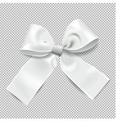 Transparent background with silver bow holiday vector
