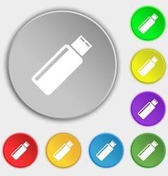 Usb sign icon flash drive stick symbol symbols on vector