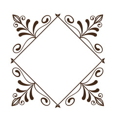 Vintage frame icon vector