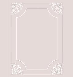 Vintage white frame vector