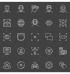 VR icons set vector image vector image