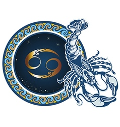 Zodiac signs - Aquarius vector image