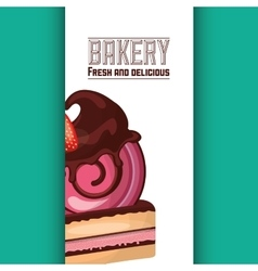 Baked goods sweet cupcake vector