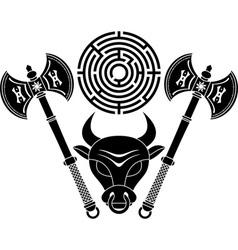 minotaur stencil second variant vector image