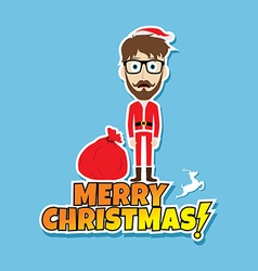 Santa claus christmas skinny dad vector