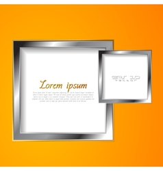 Abstract squares with silver frame vector