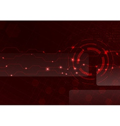 Technology red cell background vector image