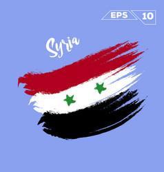 Siria flag brush strokes painted vector