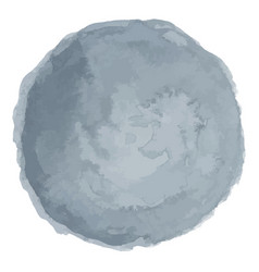 Delicate gray watercolor painted stain vector