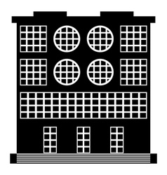 The building icon vector