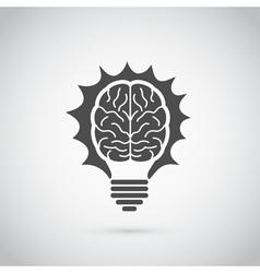 Brain bulb vector