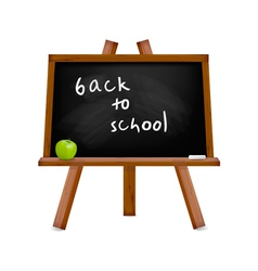 Blackboard with easel with text vector
