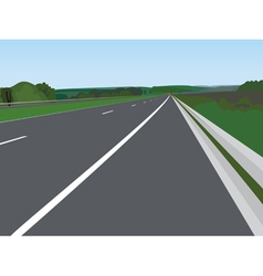 Landscape with road vector