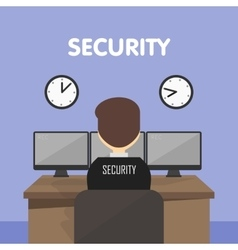 Workplace security guard vector