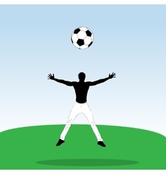 Young athlet with football ball vector