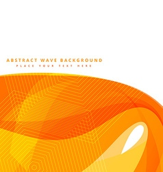 abstract background with yellow wave shapes vector image