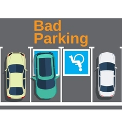 Bad parking car parked for disabled vector image
