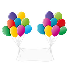banner with colorful balloons vector image