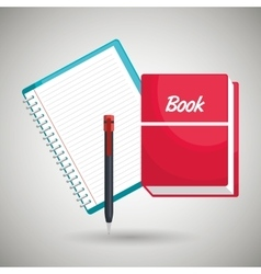 book and notepad isolated icon design vector image