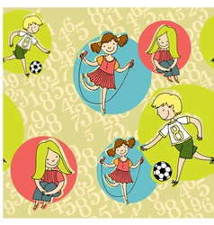 boys girls vector image vector image