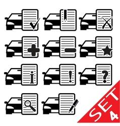 car web icons vector image