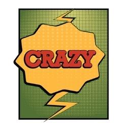 cartoon crazy 2 vector image vector image