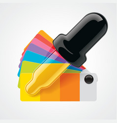 Color picker icon vector