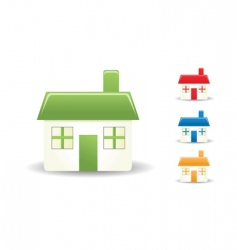 colorful homes vector image