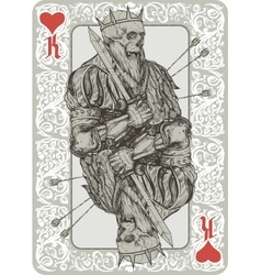 Dead King Playing Cart vector image