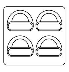 Different sushi icon outline style vector