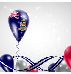 Flag of the cayman islands on balloon vector