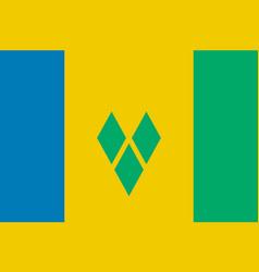 Flag saint vincent flat icon vector