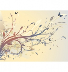 floral decorative background vector image vector image