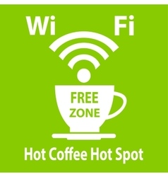 Free wifi cybercafe poster vector image
