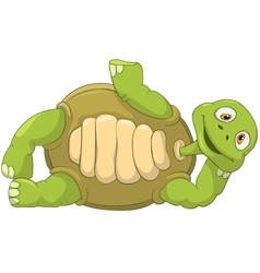 Funny Turtle Lie vector image vector image