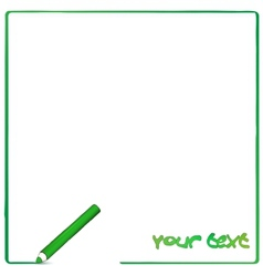 Greeen pencil background vector image