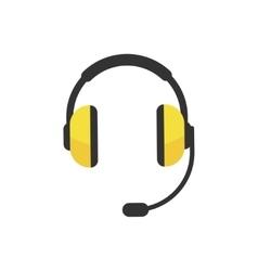 Headphones icon isolated vector image