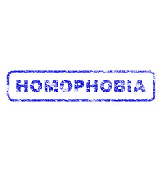 Homophobia rubber stamp vector