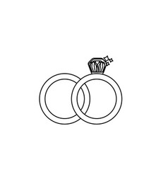 Line wedding ring to symbolic the love vector