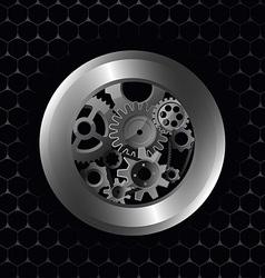 metallic preview vector image vector image