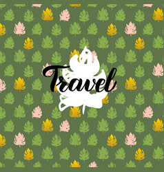 nature travel handwritten card vector image vector image