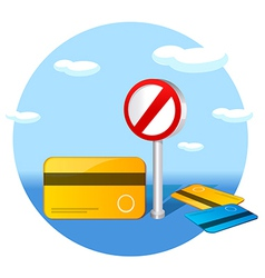 No credit card sign vector image