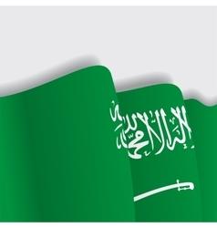 Saudi arabian waving flag vector