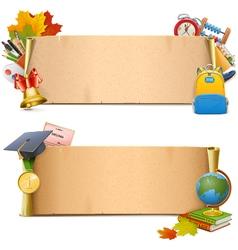School paper scrolls vector