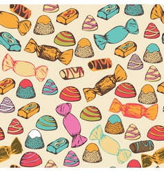 Seamless pattern with colorful candies vector image
