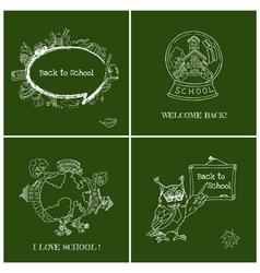 Set of back to school cards vector