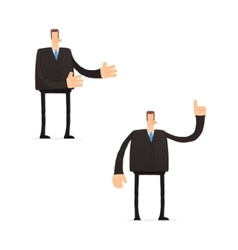 set of funny cartoon businessman vector image vector image