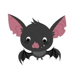 Cute cartoon bat character vector image