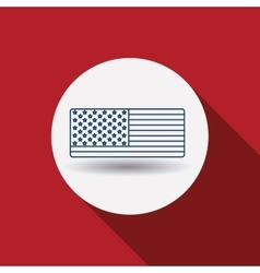 Usa flag inside circle design vector