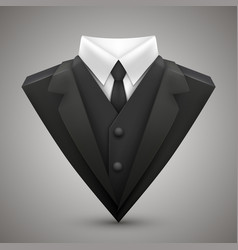 triangle jacket and tie vector image